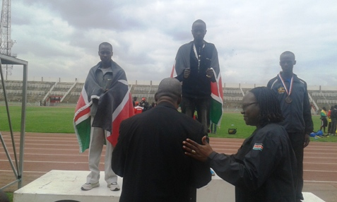 UoK Athletes receive medals during the FASU Games 2014