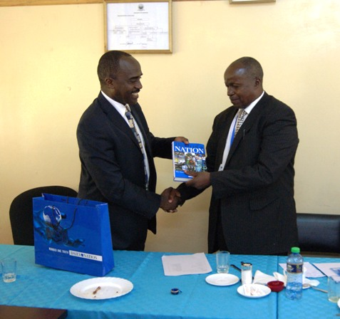 Nation Media Group CEO, Mr. Linus Gitahi and UoK VC, Prof. W.Kipngeno during a courtesy visit at UoK